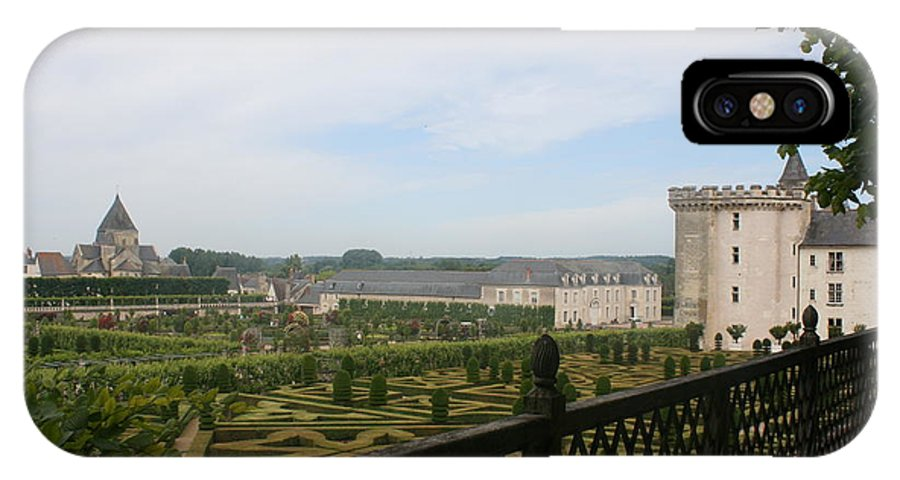 Garden IPhone X Case featuring the photograph Chateau Vilandry And Garden View by Christiane Schulze Art And Photography