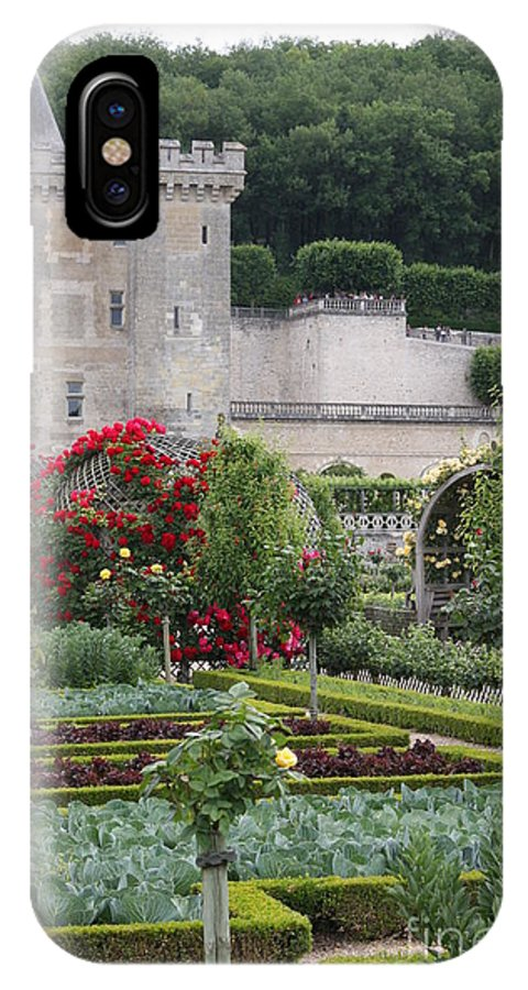 Palace IPhone X Case featuring the photograph Chateau Villandry And The Cabbage Garden by Christiane Schulze Art And Photography