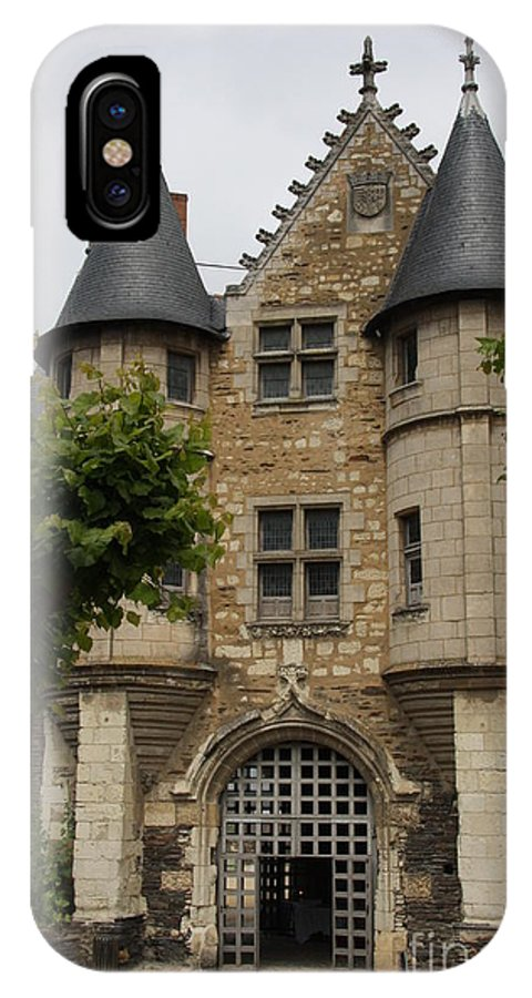 Castle IPhone X Case featuring the photograph Chatelet - Chateau D'angers by Christiane Schulze Art And Photography