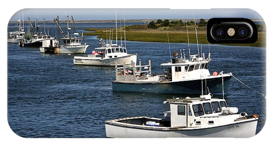Fishing IPhone X Case featuring the photograph Chatham Harbor by Jim Gillen