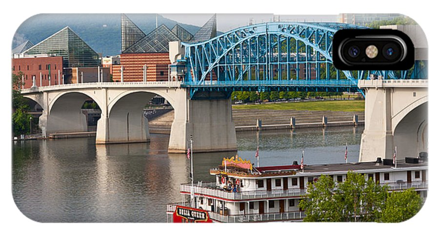 Market Street Bridge IPhone X Case featuring the photograph Chattanooga Riverfront by Melinda Fawver