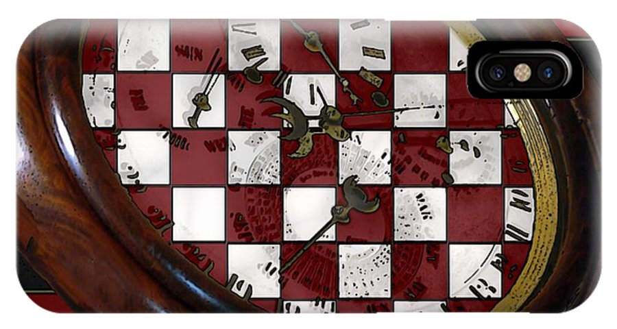 Antique IPhone X Case featuring the painting Checkmate by RC DeWinter