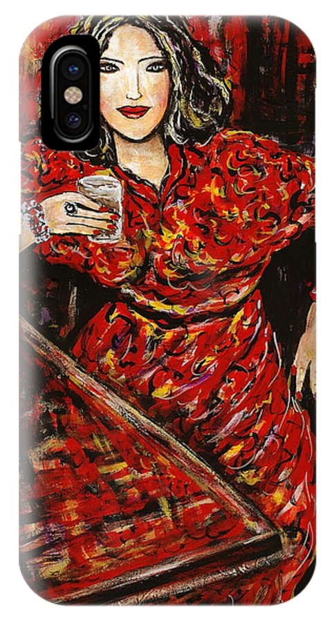 Woman IPhone Case featuring the painting Cheers by Natalie Holland