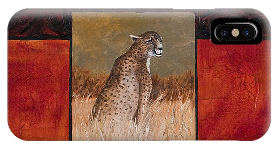 Animal IPhone X Case featuring the painting Cheetah by Darice Machel McGuire