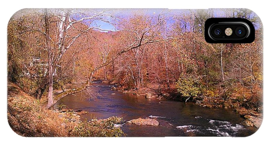 River IPhone X Case featuring the photograph Cherokee River by Lew Davis