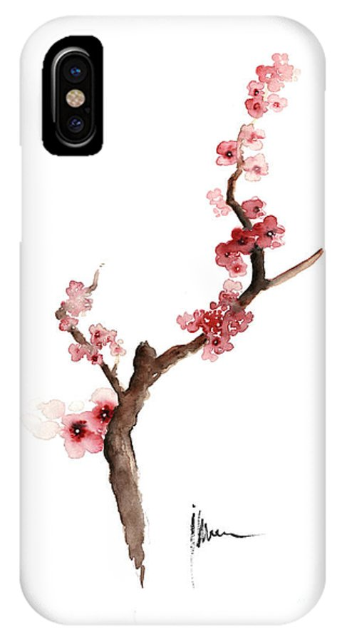 premium selection 5f3c5 058ac Cherry Blossom Painting Art Print Watercolor Large Poster IPhone X Case