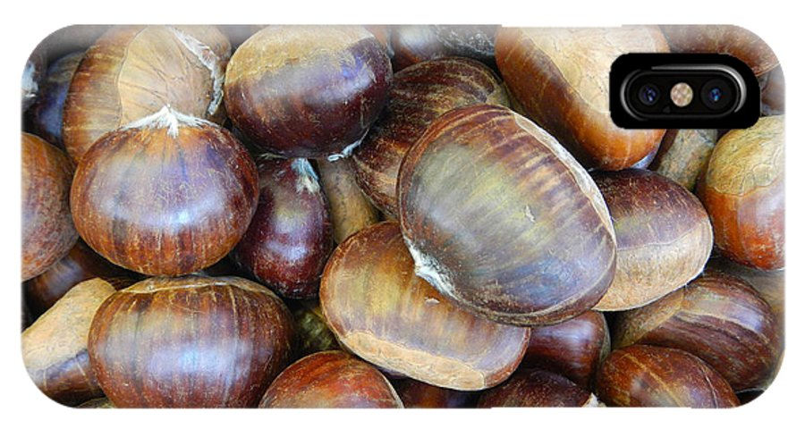 Nature IPhone X Case featuring the photograph Chestnuts by Loreta Mickiene