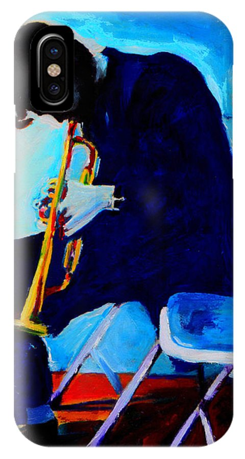 Blues IPhone X Case featuring the painting Chet Baker by Vel Verrept