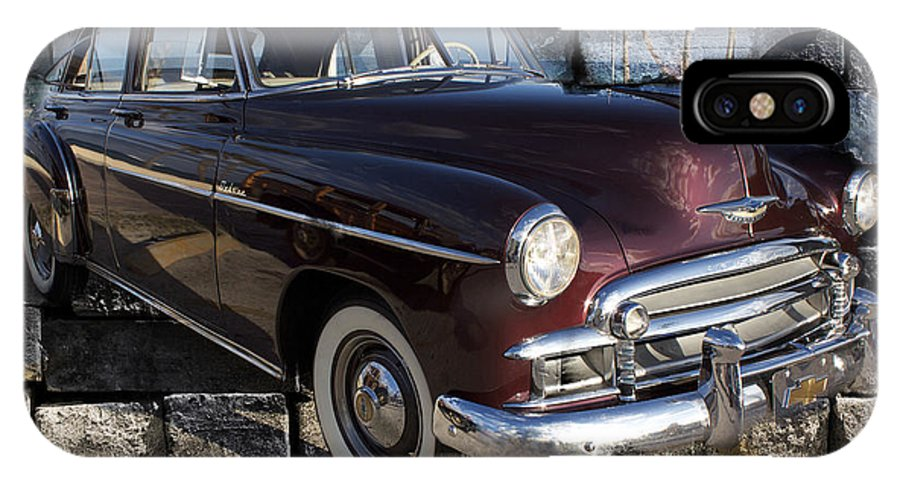 Chevrolet IPhone X Case featuring the photograph Chevrolet Deluxe Car by Carlos Diaz