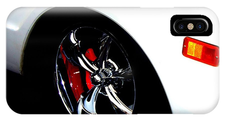 Wheels IPhone X Case featuring the photograph Chevy Wheel by Bobbee Rickard