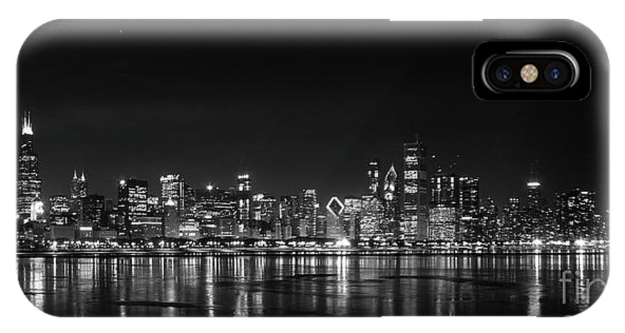 Chicago Illinois IPhone X Case featuring the photograph Chicago January by David Bearden
