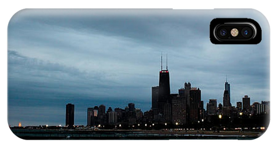 Chicago IPhone X Case featuring the photograph Chicago Nights by Melissa Leda