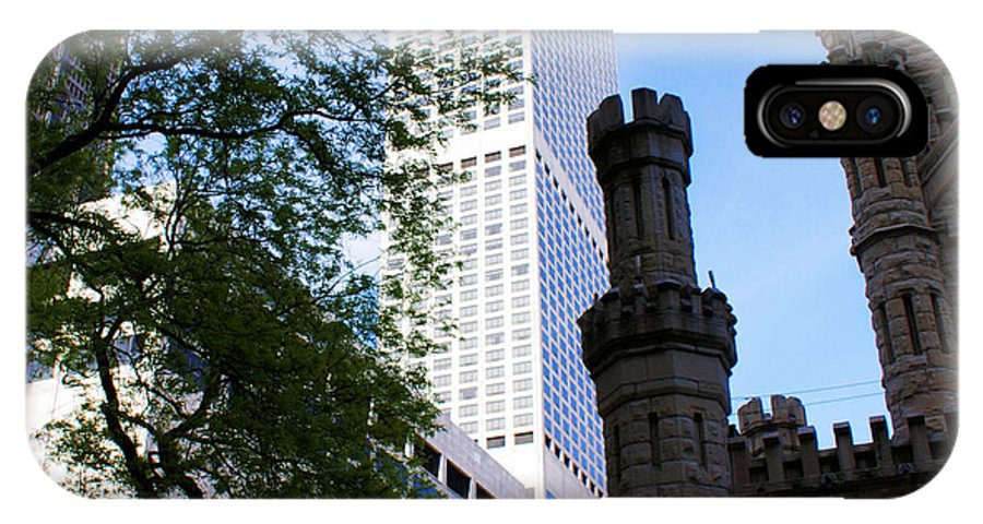 Chicago IPhone X Case featuring the photograph Chicago Old And New by Cindi Snow