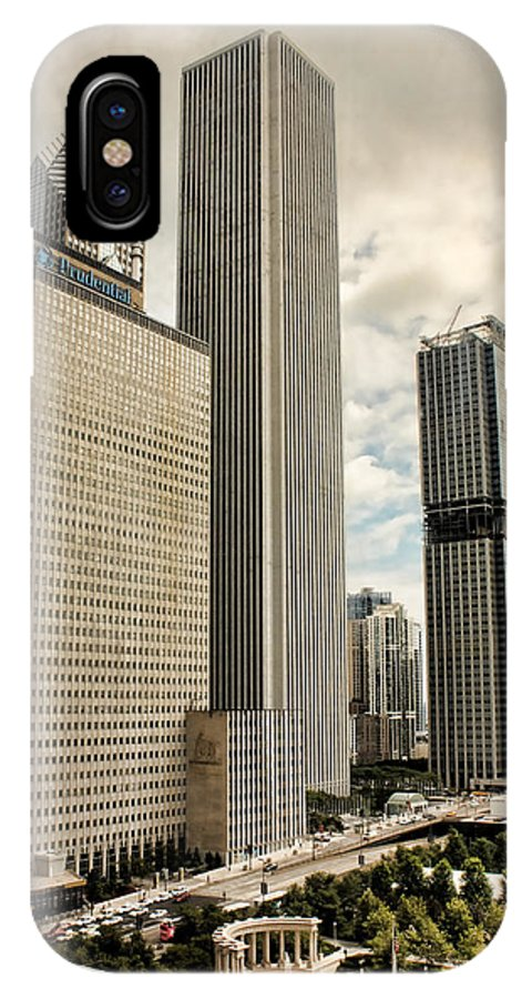 Downtown Chicago IPhone X Case featuring the photograph Chicago Prudential Towers by Joey Lax-Salinas