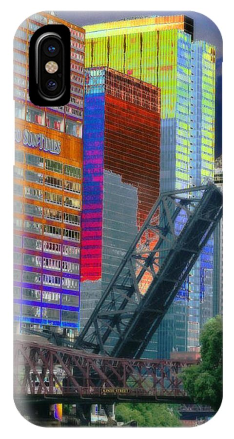 Landscape IPhone X Case featuring the photograph Chicago River Architecture by Paul Szakacs