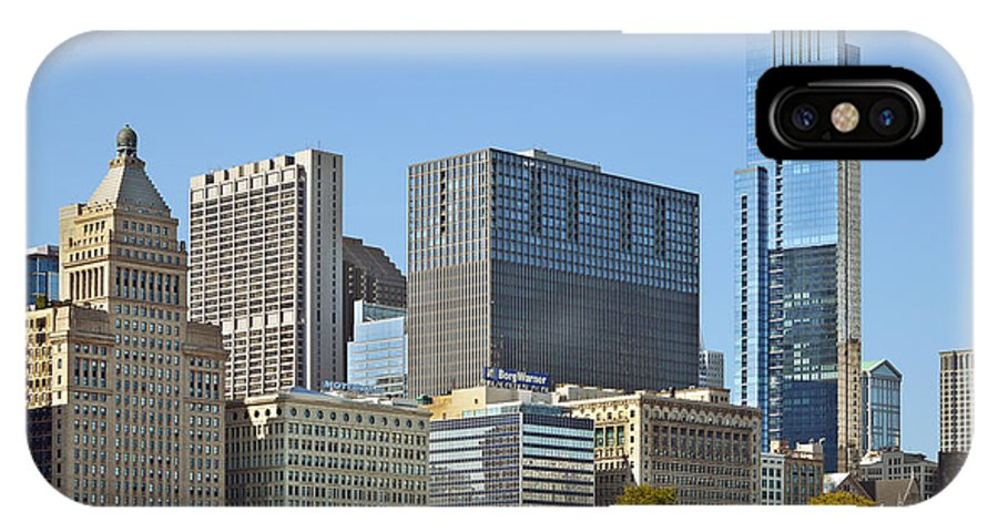 Metropolitan IPhone X Case featuring the photograph Chicago Skyline From Millenium Park II by Christine Till