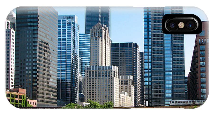 Chicago IPhone X Case featuring the photograph Chicago Skyline by J Havnen