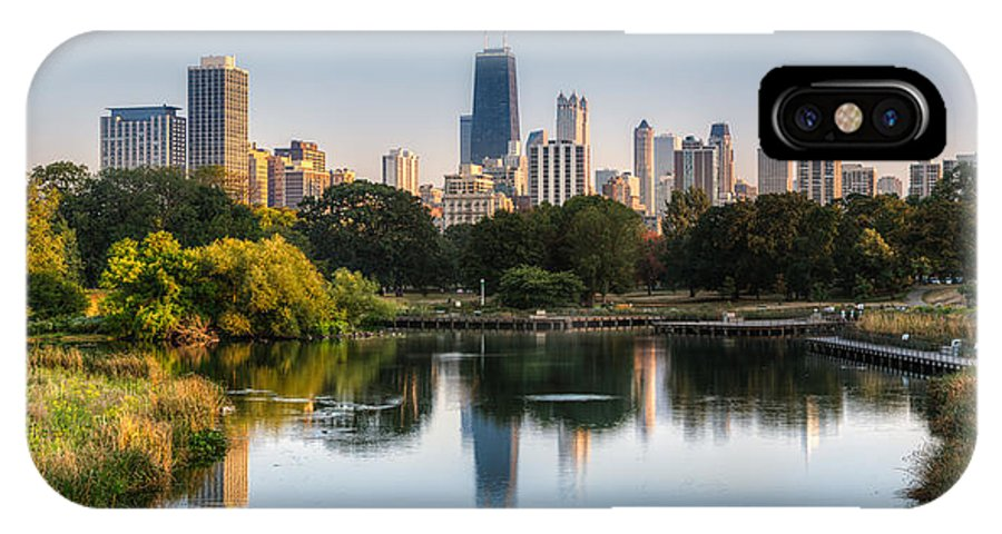 Chicago IPhone X Case featuring the photograph Chicago Skyline Reflection by Chris Smith