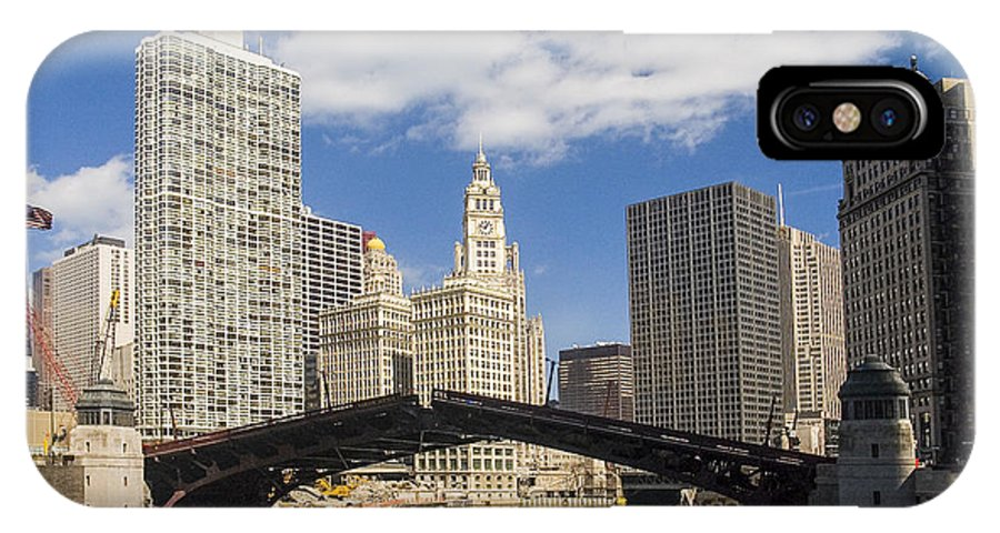 Buildings IPhone X Case featuring the photograph Chicagobridge Up by Patrick Warneka