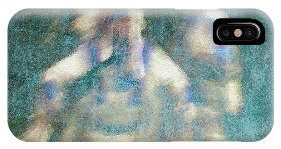 Abstract IPhone X Case featuring the photograph Chiefs Dance by Kathy Bassett