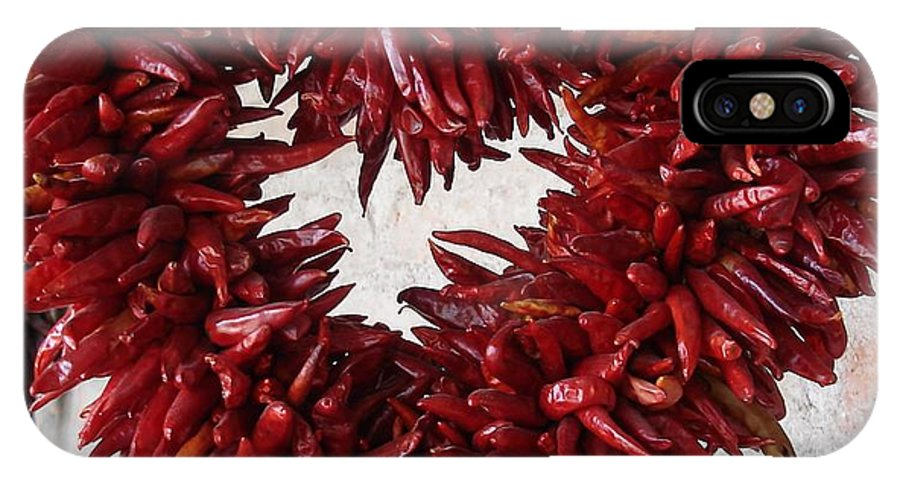 Chili Peppers IPhone X Case featuring the photograph Chili Pepper Heart by Kerri Mortenson