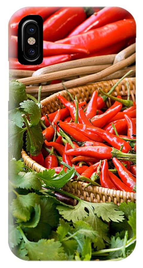 Basket IPhone X Case featuring the photograph Chillies 04 by Rick Piper Photography