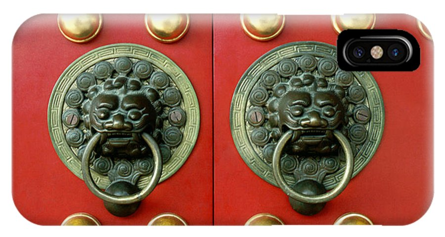 Asia IPhone X Case featuring the photograph Chinese Doorknob by King Wu