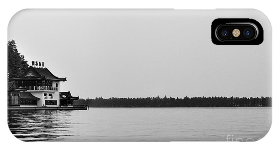 China IPhone X Case featuring the photograph Chinese Lake House by Matt Malloy