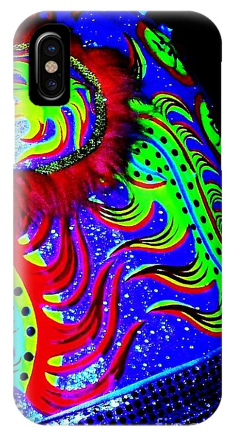 Chinese IPhone X Case featuring the photograph Chinese Tapestry Abstract by Eric Schiabor