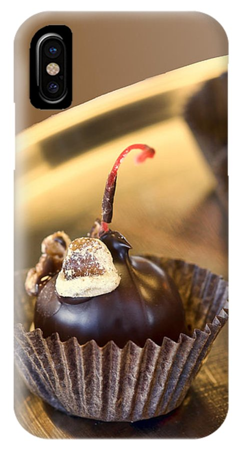 Cherry IPhone X Case featuring the photograph Chocolate Covered by Nikolyn McDonald