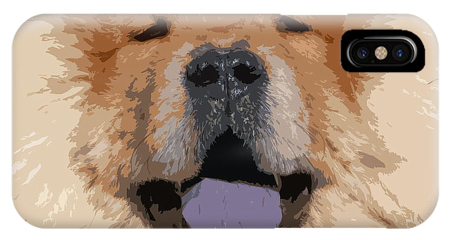Chow Chow IPhone X Case featuring the photograph Chow Chow by Nancy Merkle