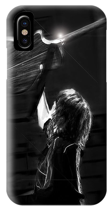 Art IPhone X / XS Case featuring the photograph Chrissie Hynde Encore By Denise Dube by Denise Dube