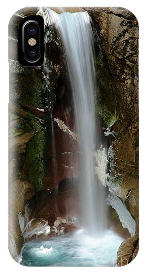 Christine Falls IPhone X Case featuring the photograph Christine Falls by Adam Jewell