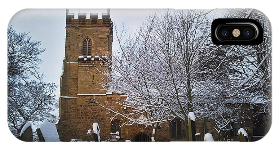 Christmas IPhone X Case featuring the photograph Christmas Church by Neil Hindle