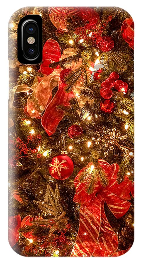 Optical Playground By Mp Ray IPhone X Case featuring the photograph Christmas Dazzle by Optical Playground By MP Ray