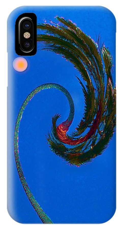Palm Tree And Moon IPhone X Case featuring the photograph Christmas In La by David Klaboe