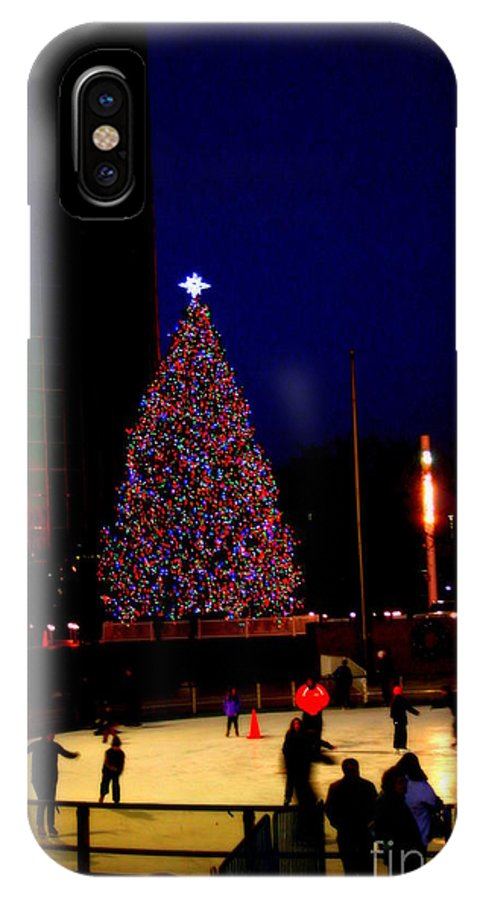 Christmas In New York - Christmas - New York - Holidays - IPhone X Case featuring the photograph Christmas In New York by Dora Sofia Caputo Photographic Design and Fine Art