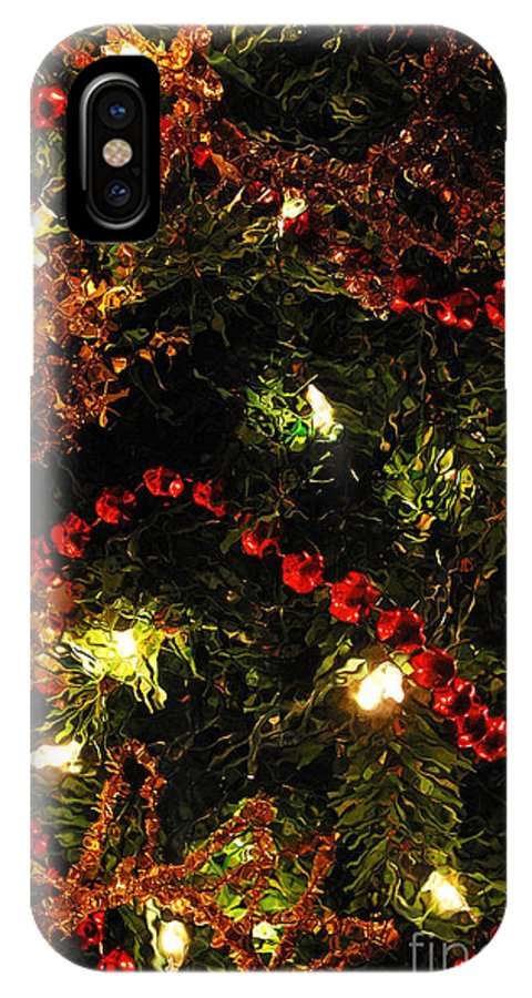 Ornaments IPhone X Case featuring the photograph Christmas Reflections by Nancy Mueller