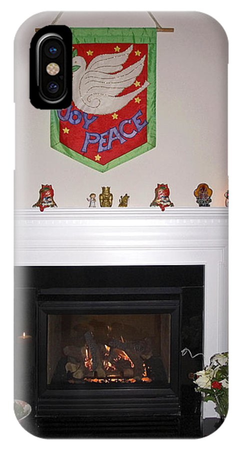 Fireplace IPhone X Case featuring the photograph Christmas Wishes by Sally Weigand
