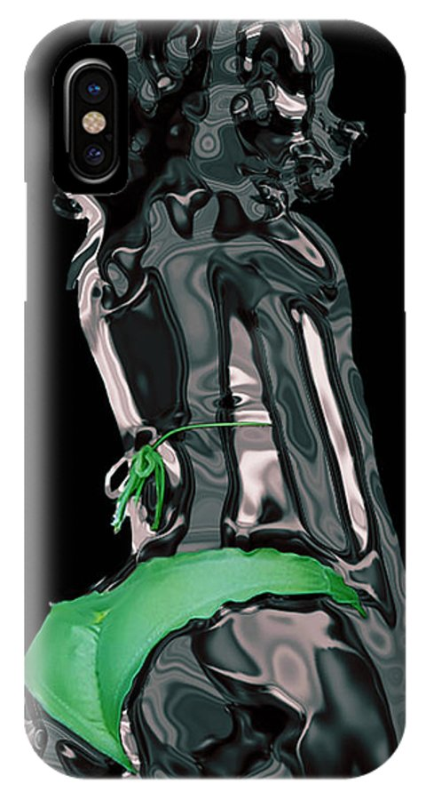 Model IPhone X Case featuring the digital art My Chrome Assets 1 by Brian Reaves