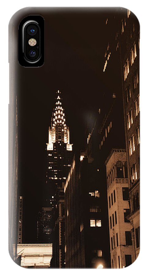 New York IPhone X Case featuring the photograph Chrysler Building by Donna Blackhall