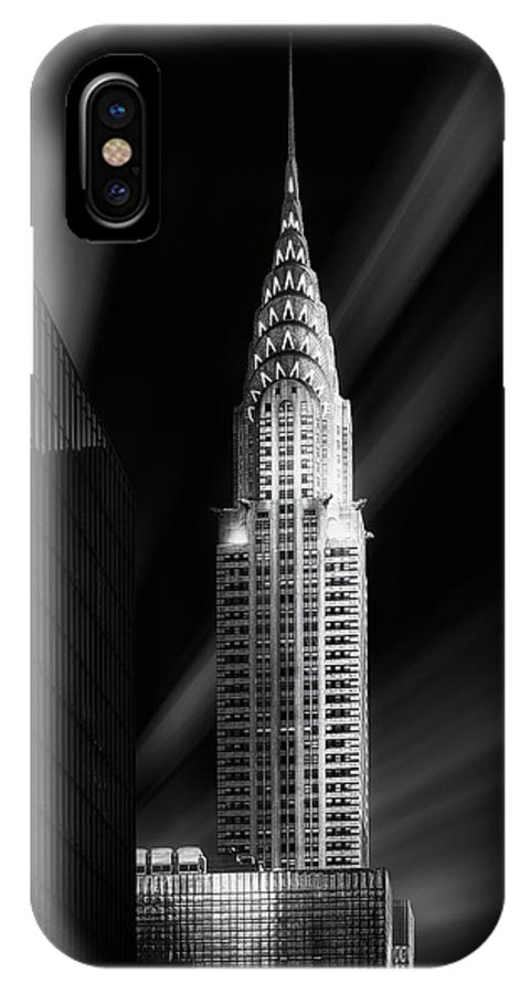 Chrysler IPhone X Case featuring the photograph Chrysler Building by Jorge Ruiz Dueso