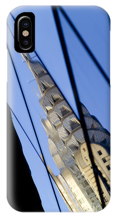 Chrysler IPhone X Case featuring the photograph Chrysler Building by Tony Cordoza