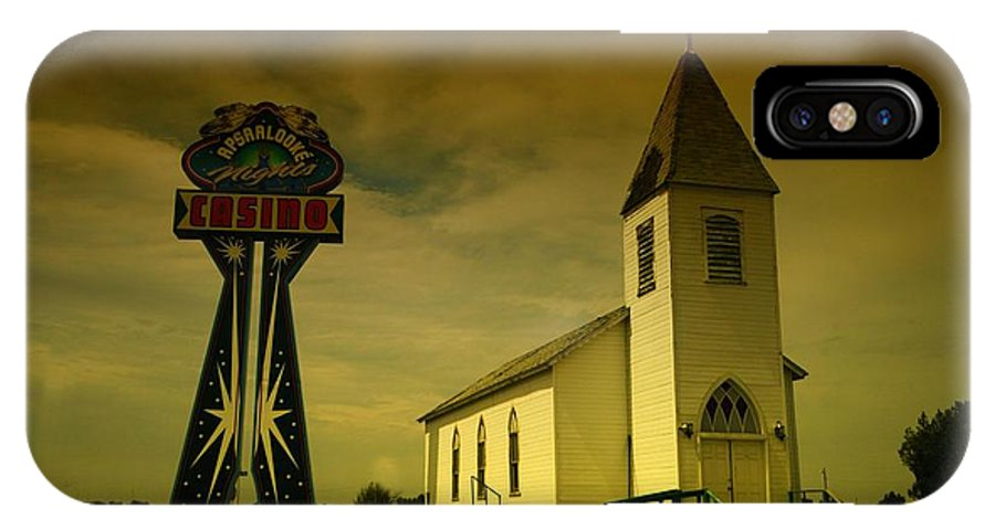 Churches IPhone X Case featuring the photograph Church And Casino Those Two Angels by Jeff Swan