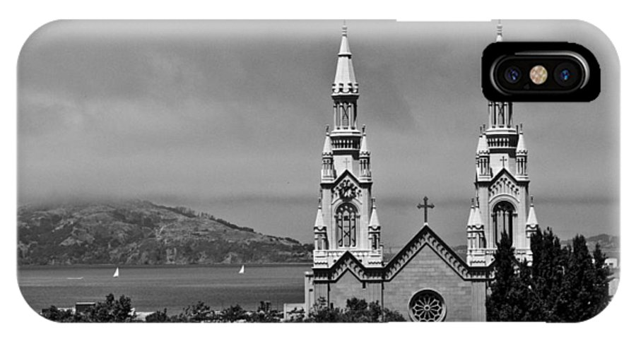 San Francisco IPhone X Case featuring the photograph Church On The Bay by Tony King