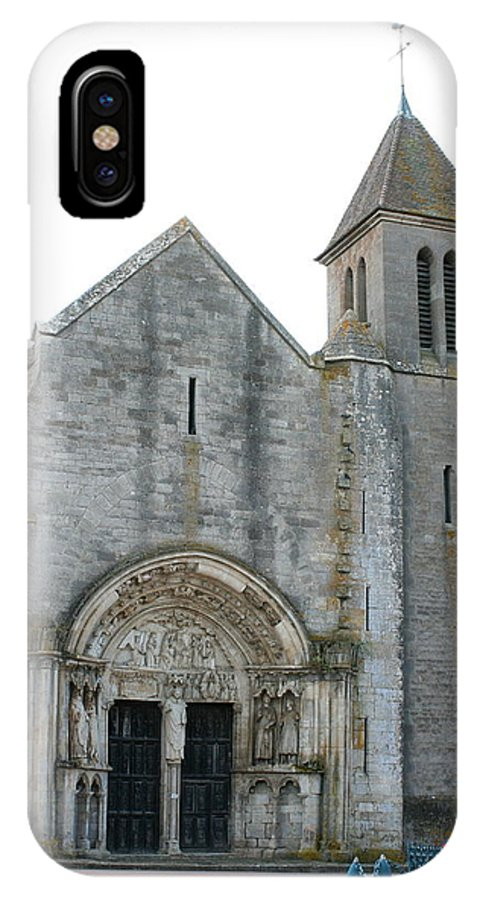 Old Church IPhone X Case featuring the photograph Church St Thibault- Burgundy by Christiane Schulze Art And Photography