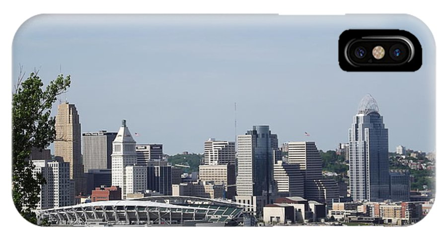 City IPhone X Case featuring the photograph Cincinnati by Clara Kitchen