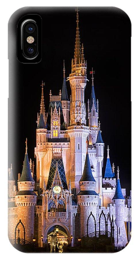 3scape IPhone X Case featuring the photograph Cinderella's Castle In Magic Kingdom by Adam Romanowicz