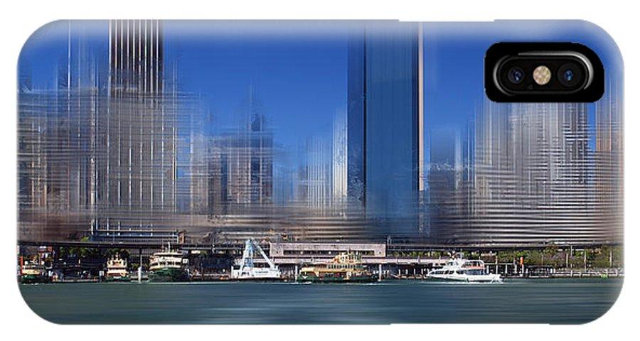 Australia IPhone X Case featuring the photograph City-art Sydney Circular Quay by Melanie Viola