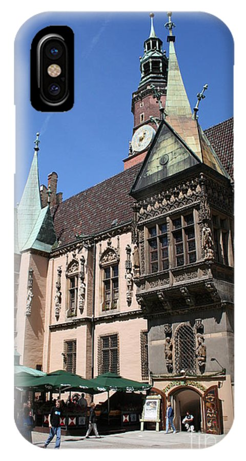City Hall IPhone X Case featuring the photograph City Hall Wroclaw by Christiane Schulze Art And Photography